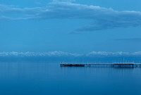 Issyk Kul lake just after sunset