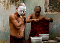 Bathing Monk, Burma